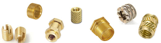 Brass Rubber moulding inserts