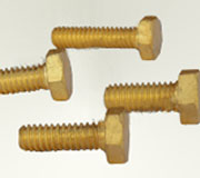 Brass Bolts Nuts hex bolts