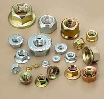 Brass flanged nuts Brass flanged back nuts